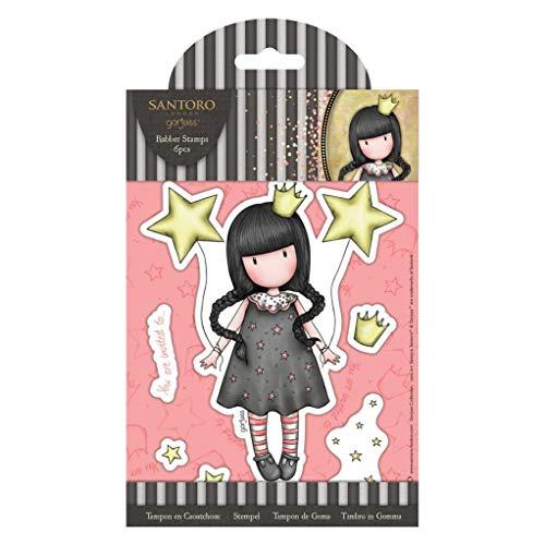 SANTORO Santora Gorjuss meisjes Craft Collection rubberen stempels - mijn eigen universum (6st)