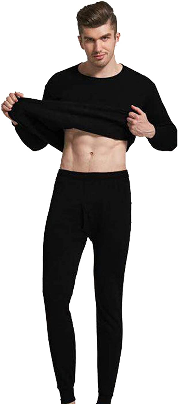 Men's Thermal Underwear Set Long Johns 2 pc Top & Bottom Soft with Fleece Lined Winter Skiing Base Layer
