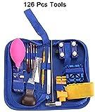126Pcs Kit de herramientas de reparación de relojes Abridor de cajas de banda Destornillador cruzado Kit de reparación de relojes Juego de herramientas Abridor de removedor Abridor Relojes Herramien