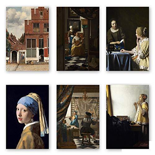 HNZKly Johannes Vermeer Pinturas Conjunto Chica con Perla Pe
