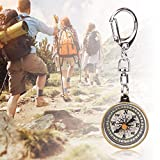 Zhjvihx Compass Keychain, Survival Compass Easy to Carry Camping Compass for Camping for Hiking