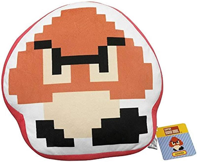 Little Buddy Super Mario Bros 8 Bit Goomba 12 5 Stuffed Plush Pillow Cushion