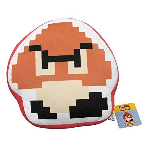 Little Buddy Super Mario Bros. 8-Bit Goomba 12.5 Stuffed Plush Pillow Cushion