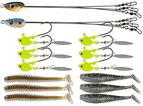 iLure Alabama Umbrella Rig with 5 arm 8 Blade for bass Fishing Lure Salwater Stripers Swim Bait