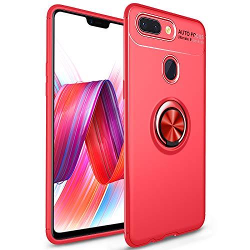 J&H Xiaomi Mi 8 Lite Ring Case, Xiaomi Mi 8 Lite Capa protetora de TPU ultra fina, capa com alça de dedo com anel giratório de 360 graus para Xiaomi Mi 8 Lite