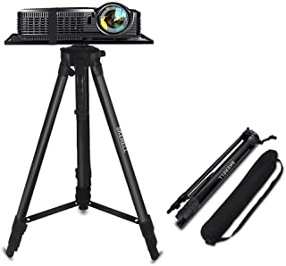Projector Stand , Adjustable Laptop Stand, Multi-Function Stand,Aluminum Tripod Stand,Computer Stand with Plate and Carry Bag, Adjustable Height 17-46inches for Projectors/Laptops/Photography/DJ