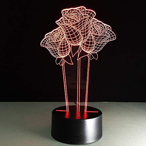 Nachtlicht Kinder 3D Deko Lampe Touch Fernbedienung LED Tischlampe Flutlicht weiches Licht Statue zimmer Schlaf Licht dekorative Lichter Party Lichter 16 Farbe USB