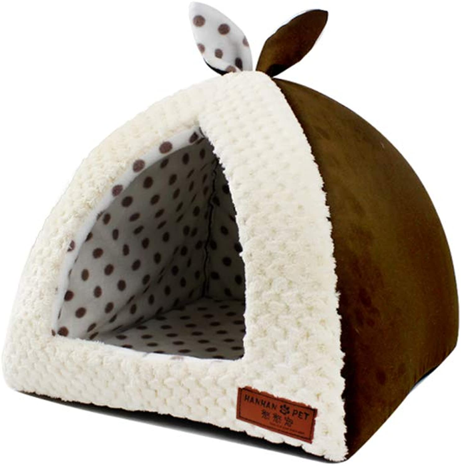 Dog Bed, Removable and Washable Small Dog Bed Dog Mat Four Seasons Universal Yurt Dog House, Multi-Size (color   Coffee color, Size   M)