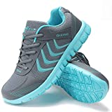 Alicegana Women's Breathable Mesh Tennis Athletic Lace up Fashion Walking Comfort Lightweight Running White...