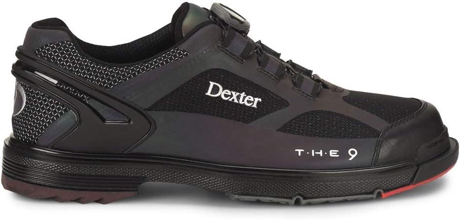 Dexter T.H.E 9 HT BOA Color Shift Hot Melt Wide Width Bowling Shoes 8.5 W US, Black/Grey