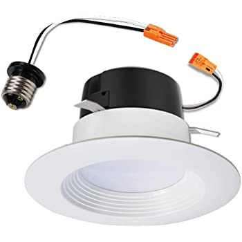 Halo LT460WH6927R LT4 Integrated LED Recessed Ceiling Light Retrofit Trim, 2700K, 4 in, White