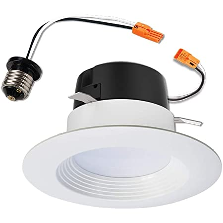 Halo Rl4069s1ewhr Ca 4 In Selectable Cct 2700k 5000k Integrated Led Recessed Ceiling Light Title 20 Compliant Retrofit Downlight Trim 4 Inch White Amazon Com