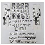SBCX Para Mercedes Benz W246 W242 B180 B200 B220 B250 B260 V8 BITURBO AMG 4MATIC CDI , Emblemas de Emblema de Insignia de Letras de Maletero Cromado 3D