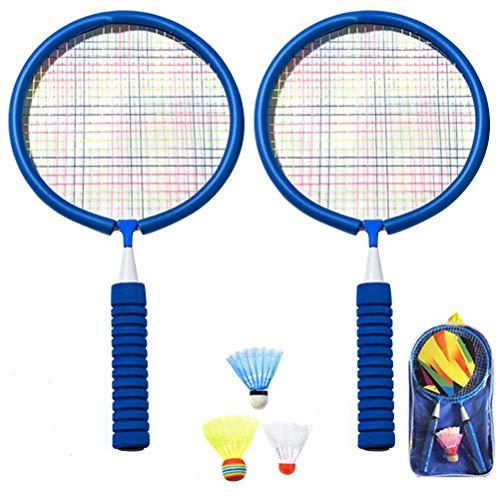 Tianlun Juego de Raquetas de bádminton, Deportes bádminton Raqueta con Bolsa de Bolas bádminton Jugando Juguete con 3 giradores y Cargadores para niños para niños
