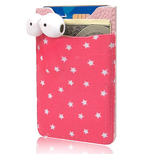 Phone Card Holder, Senose Stick on Wallet for Cell Phone Stretchy Lycra Sleeves ID Credit Card Phone Pocket Card Holder Compatible with Samsung Galaxy Android Smartphones