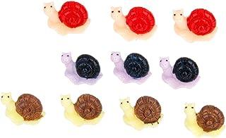 10pcs Caracol Miniatura Resina Decoración para Jardín Bonsai Casa de Muñecas