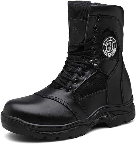K-Flame Militaire Combat démarrage Desert Haut-Haut Tactique Chaussures en Cuir PU à Lacets Anti-Collision Armée Bottes Sécurité Police Cheville Botte Travail Utilitaire Chaussures