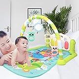 Jiangying Baby Gym Rack Mat Canciones Infantiles Música y Juegos de Idiomas Gimnasio y Piano Colchoneta de Actividad para el Tiempo Boca Abajo