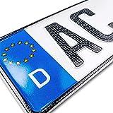 schildEVO 1 Carbon Kfz Kennzeichen   520 x 110 mm   OFFIZIELL amtliche Nummernschilder   DIN-Zertifiziert – EU Wunschkennzeichen mit individueller Prägung   Autokennzeichen