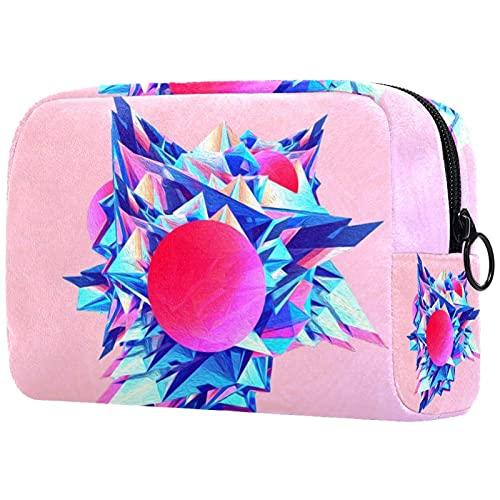 Bolsa de cosméticos de viaje con cremallera bolsas de maquillaje para mujeres multifunción...
