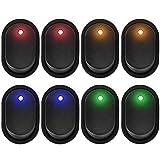 AutoEC 8 Interruptores Coche 12V 20A, Interruptor de palanca LED, SPST ON Interruptor basculante apagado,resistente al agua, Para Barco, Auto, Motocicleta