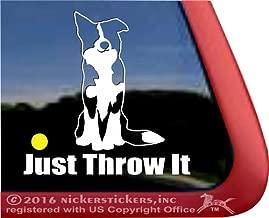 JUST Throw IT | Border Collie Dog Vinyl Window Auto Decal Sticker