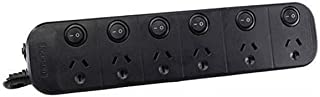 Jackson 6 Outlet Surge Protected Individual Switch Powerboard