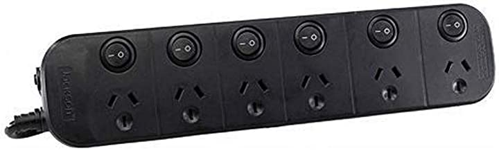 Jackson PT1814USB 6 Outlet Surge Protected Individual Switch Powerboard
