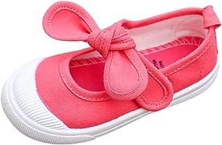 Chaussures Toile Souples pour Bébé et Enfants Filles Chaussures Premier Pas Chaussures de Princesse Chaussures Respirant C...