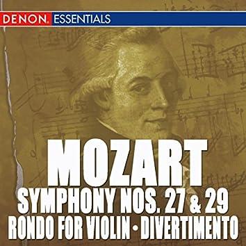 Mozart: Symphony Nos. 27 & 29 - Rondo For Orchestra - Divertimento, KV 137