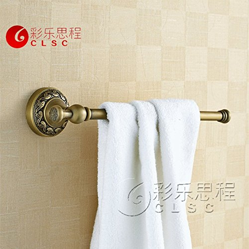 MBYW moderne minimalistische handdoek rek mode badkamer handdoekenrek Koper enkele staaf handdoek rek antiek enkele staaf handdoek rek Europese retro handdoek bar badkamer badkamer hardware horizontale bar