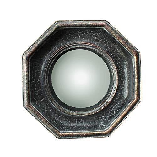 Chehoma - Specchio Convesso Ottagonale, Colore: Nero