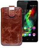 Suncase Leather Case for Wiko Rainbow Lite Case With