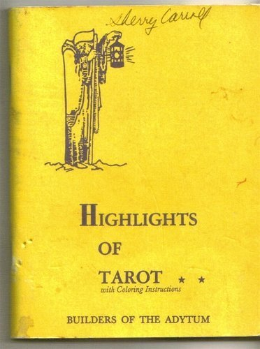 Highlights of Tarot Booklet by Paul Foster Case (1989-06-02)