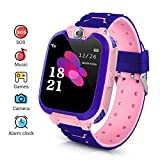LYPULIGHT Kids Smartwatch, Smart Watch Phone with Music Player, SOS, 1.44 inch LCD Touchscreen Watch with Digital Camera, Games, Alarm Clock for Boys and Girls(PINK/BLUE) (Pink)