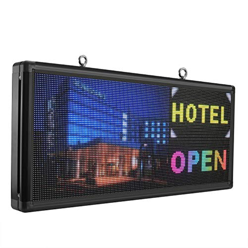 """P6 led sign 40"""" x 18"""" outdoor full color with high resolution programmable led scrolling display"""