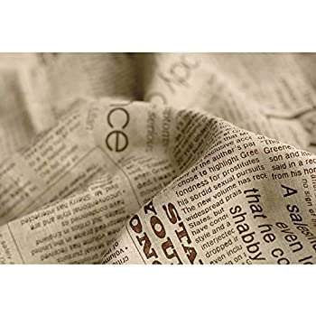 Best newspaper print fabric by the yard Reviews