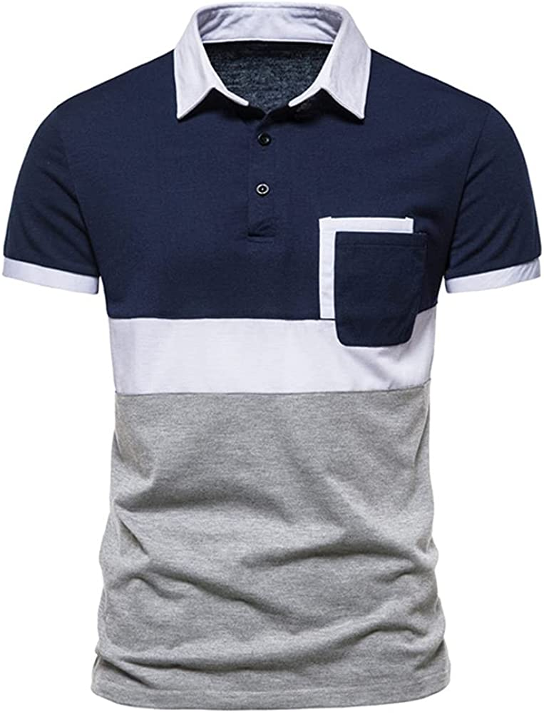 N\P Men's Three-Color Stitching Shirts Short Summer Sleeves Slim Same day Manufacturer regenerated product shipping