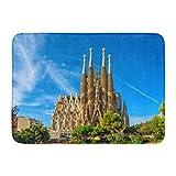 Alfombrillas Alfombras de baño Alfombrilla exterior / interior Barcelona España 24 de septiembre Catedral de la Sagrada Familia Diseñado por el arquitecto Antonio Gaudi Decoración de baño Alfombra Alf