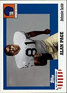 2005 Topps All American #4 Alan Page NFL Football Trading Card
