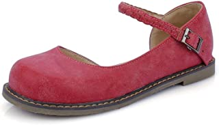 BalaMasa Womens Comfort Solid Buckle Urethane Pumps Shoes APL10405