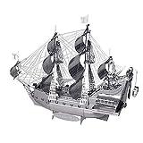Piecool - Puzzle 3D de simulación de barco de pirata, color negro