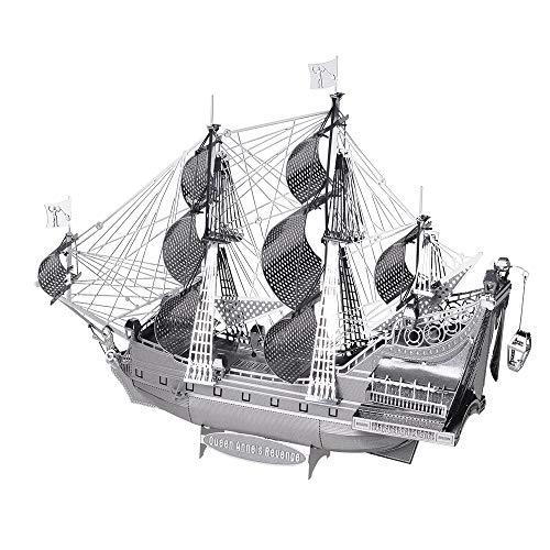 piececool 3D DIY Laser Cut Schiffsmodell Metallmodell-Puzzles für Erwachsene- The Queen Anne's Revenge-63pcs