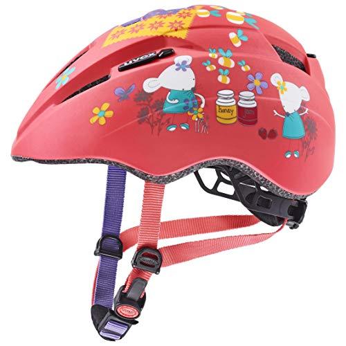 uvex Unisex Jugend Kid 2 cc Fahrradhelm, Coral Mouse mat, 46-52 cm