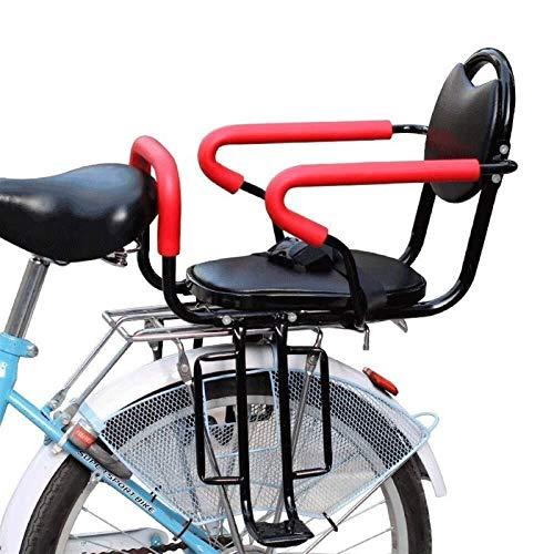 CRMY Asiento De Bicicleta para Niños, Asiento Trasero De Bicicleta Extraíble, Asiento De Bicicleta para Niños Montado con Pasamanos Y Cinturón De Seguridad, para Niños De 2 A 8 Años