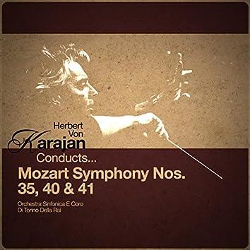 Herbert Von Karajan Conducts... Mozart Symphony Nos. 35, 40 & 41