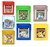 Pokemon Gameboy Color Collection 7-Pack (verde, azul, rojo, amarillo, oro, cristal, plata) para Gameboy Light Gameboy Color Pocket Gameboy Advance Gameboy Advance SP versión EUR (7 piezas)