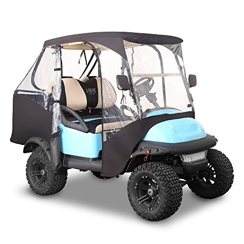 10L0L 2 Passenger 600D Golf Cart Driving Enclosure Cover with Security Side Mirror Openings for Club Car Precedent (ONLY for Club CAR Precedent) NOT for with Extended Cover