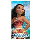 Serviette câlin en coton doux, Disney VAIANA, 70 x 140 cm / Idée cadeau pour fille