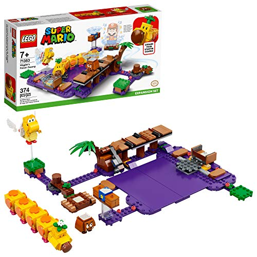 LEGO Super Mario Wiggler's Poison Swamp Expansion Set 71383 Building Kit; Unique Gift Toy Playset for Creative Kids, New 2021 (374 Pieces)